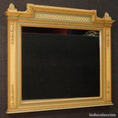 Antigüedades: ESPEJO ITALIANO EN MADERA PINTADA EN ESTILO LUIS XVI. Lote 128438447