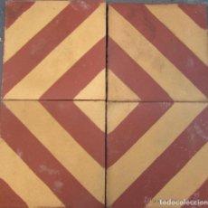 Antigüedades: 4 ANTIGUA BALDOSA HIDRAULICA CATALANA DE LA BARCELONA ANTIGUA. Lote 128438507