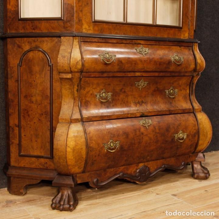 Antigüedades: Vitrina holandés en madera de nogal, caoba y roble - Foto 2 - 128445331