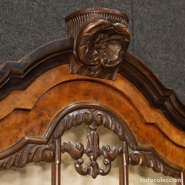 Antigüedades: Vitrina holandés en madera de nogal, caoba y roble - Foto 3 - 128445331
