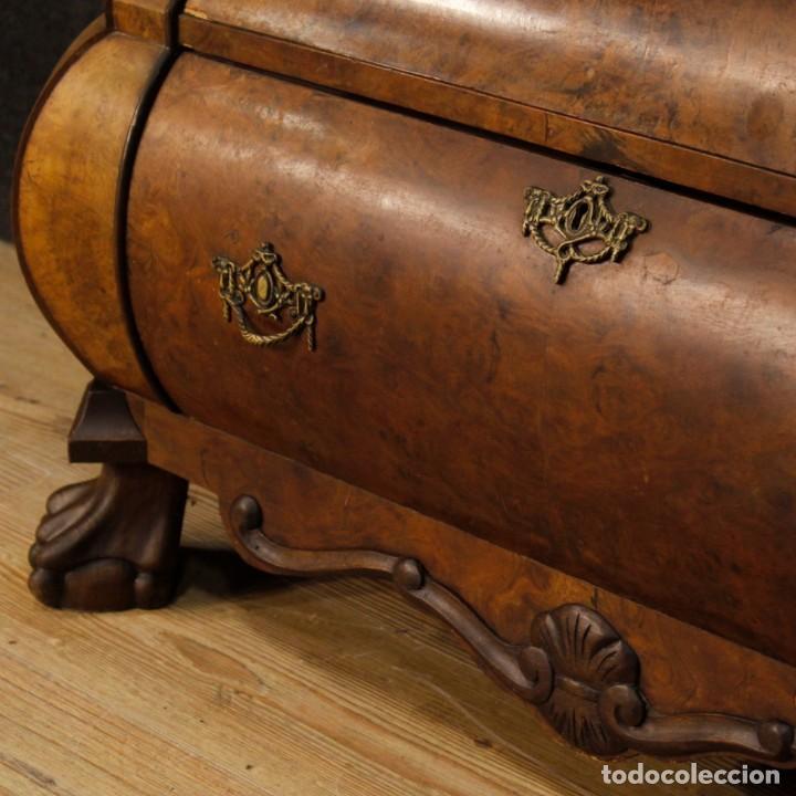 Antigüedades: Vitrina holandés en madera de nogal, caoba y roble - Foto 4 - 128445331
