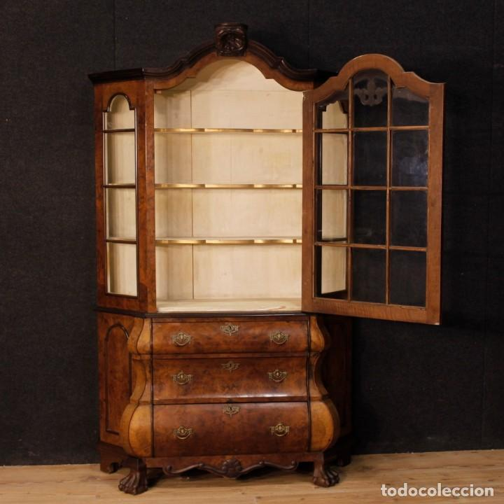 Antigüedades: Vitrina holandés en madera de nogal, caoba y roble - Foto 5 - 128445331