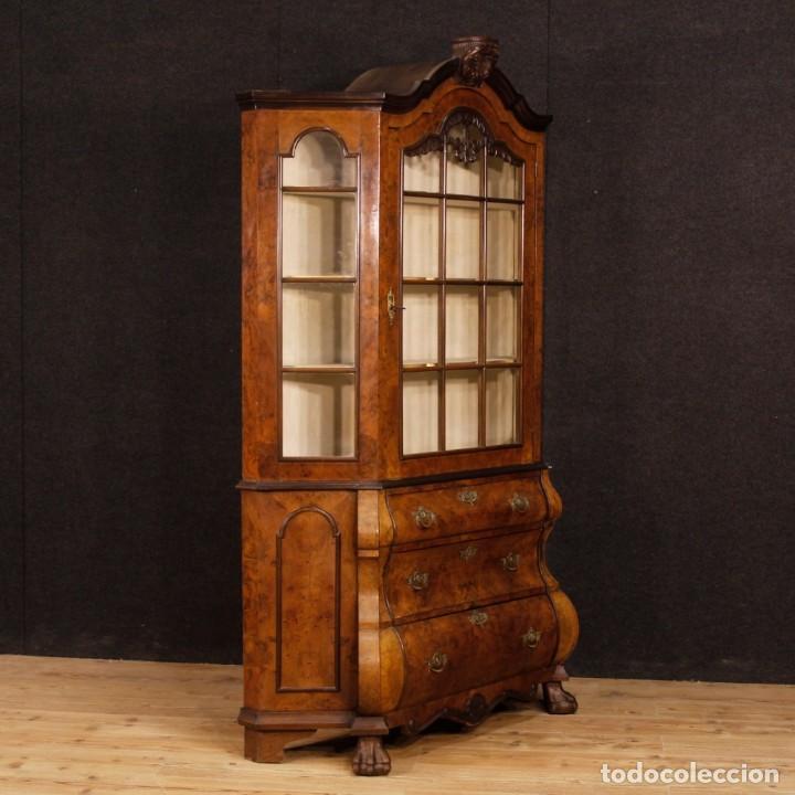 Antigüedades: Vitrina holandés en madera de nogal, caoba y roble - Foto 7 - 128445331
