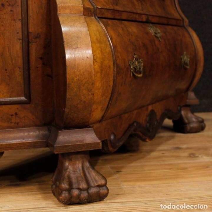Antigüedades: Vitrina holandés en madera de nogal, caoba y roble - Foto 8 - 128445331