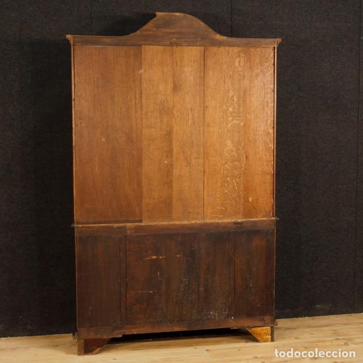 Antigüedades: Vitrina holandés en madera de nogal, caoba y roble - Foto 9 - 128445331