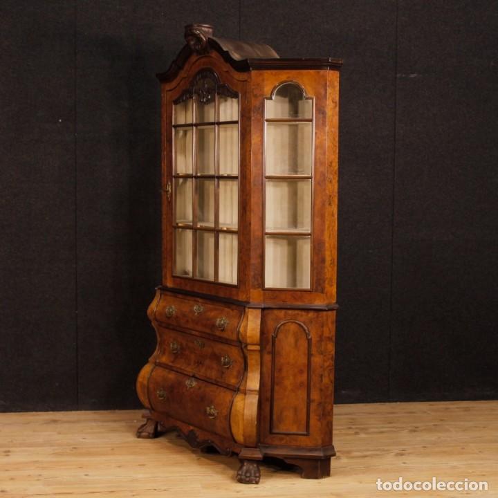 Antigüedades: Vitrina holandés en madera de nogal, caoba y roble - Foto 10 - 128445331