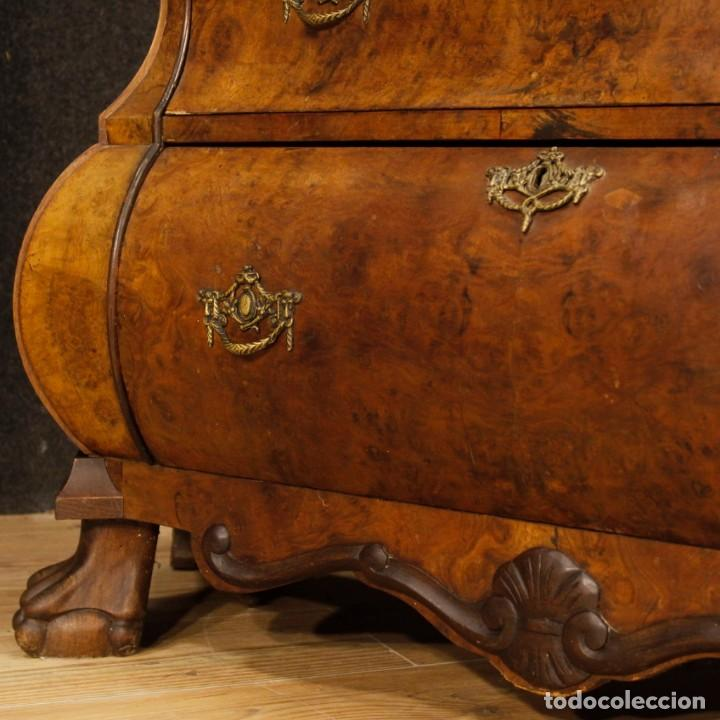 Antigüedades: Vitrina holandés en madera de nogal, caoba y roble - Foto 11 - 128445331