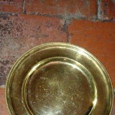 Antigüedades - Bandeja redonda decorada. - 128452867