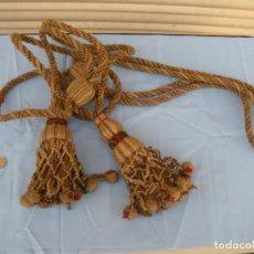 Antigüedades: ALZAPAÑOS CORDONES PARA CORTINAS GOYESCOS. Lote 176395143