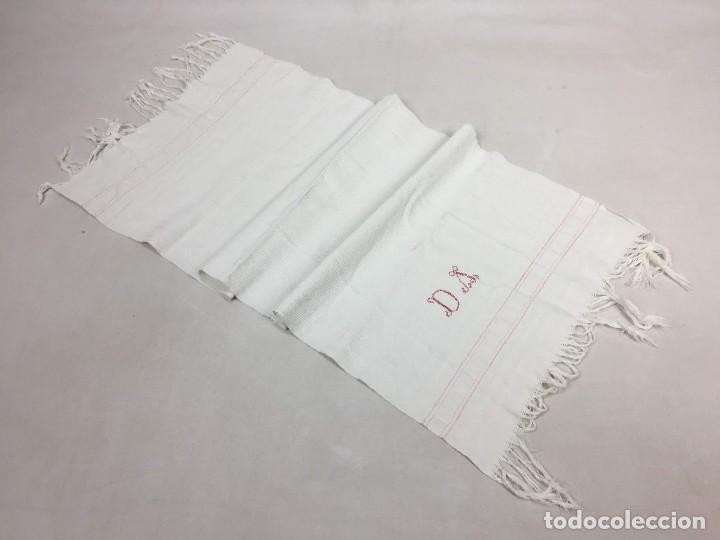 Antigüedades: Antigua toalla de lino - Foto 3 - 128455395