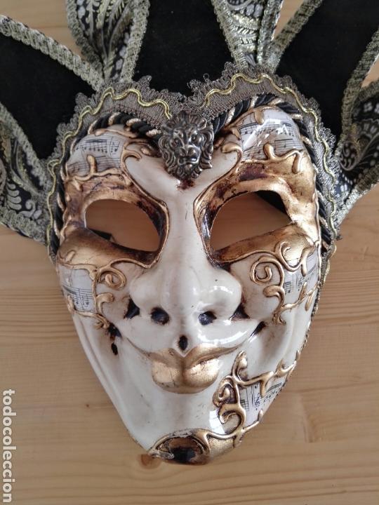 Antigüedades: Mascara Venecia Carnaval original con sello de autenticidad - Foto 2 - 128457406