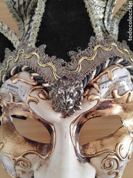 Antigüedades: Mascara Venecia Carnaval original con sello de autenticidad - Foto 5 - 128457406