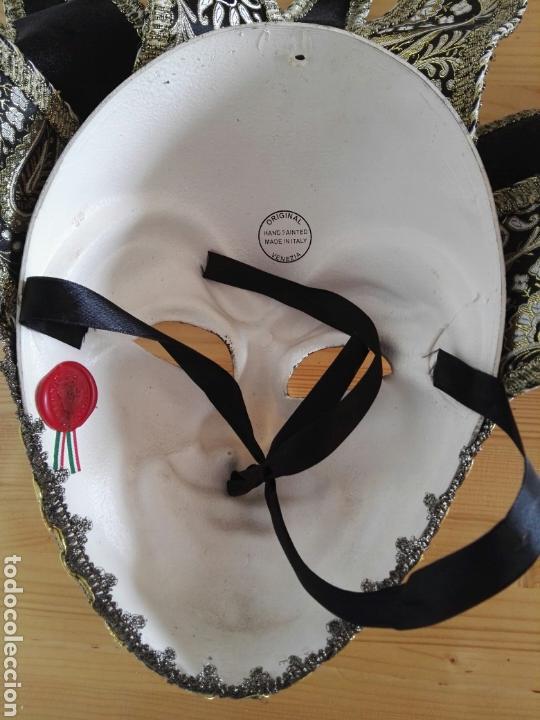 Antigüedades: Mascara Venecia Carnaval original con sello de autenticidad - Foto 9 - 128457406