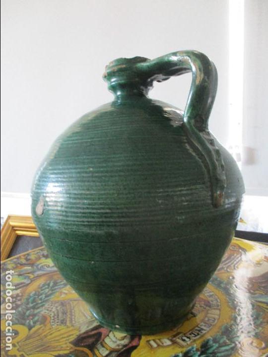 ANTIGUO CANTARO PERULA VIDRIADA SIGLO XIX (Antigüedades - Porcelanas y Cerámicas - Triana)