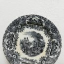 Antigüedades: ANTIGUO PLATO DE CERAMICA PICKMAN, NEGRO, SIGLO XIX.. Lote 128487607