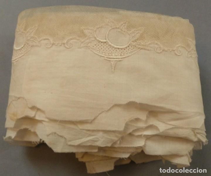 Antigüedades: ANTIGUO BAJO DE BATISTA CON ENCAJE - PRINCIPIOS S. XX - Foto 3 - 128410147