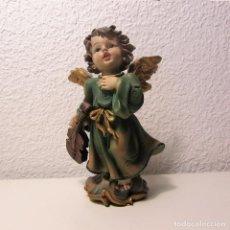 Antigüedades: PRECIOSO ANGEL O QUERUBÍN CON VIOLÍN MARCA GDP GIORDANO DI PANZANO. Lote 128513595