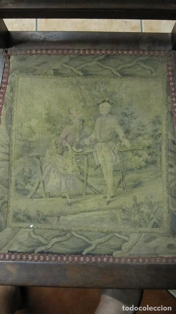 Antigüedades: PAREJA DE SILLAS DE VESTÍBULO, REALIZADAS EN MADERA DE CAOBA - THONET HERMANOS BARCELONA DEL XIX - Foto 8 - 128516223