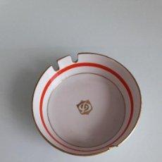 Antigüedades: CENICERO DE PORCELANA DECORADO - FORMA REDONDA - PECS. Lote 128522835