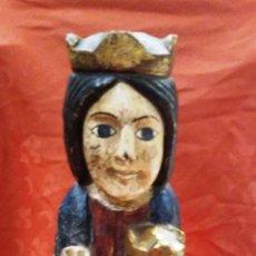 Antigüedades: VIRGEN CON NIÑO JESUS EN TALLA. Lote 128529939