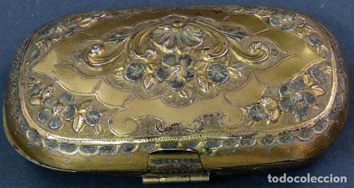 Antigüedades: Monedero en metal dorado sin forro interior francés siglo XIX - Foto 2 - 128534739