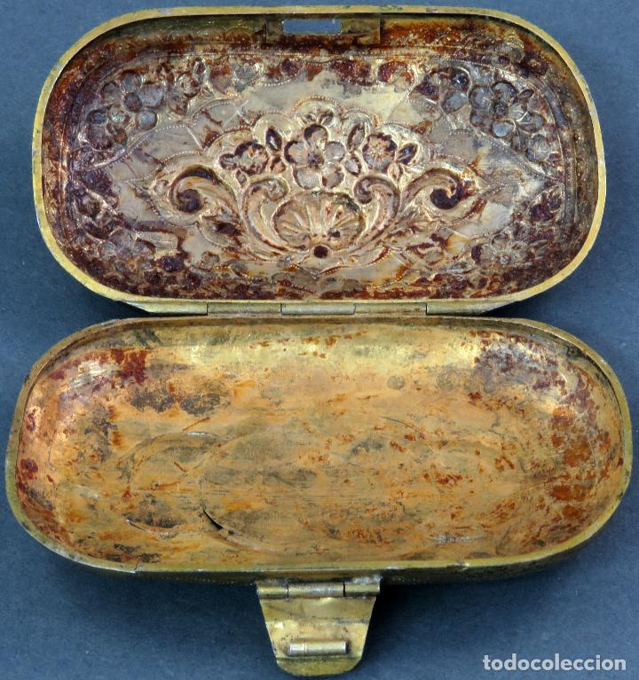 Antigüedades: Monedero en metal dorado sin forro interior francés siglo XIX - Foto 3 - 128534739