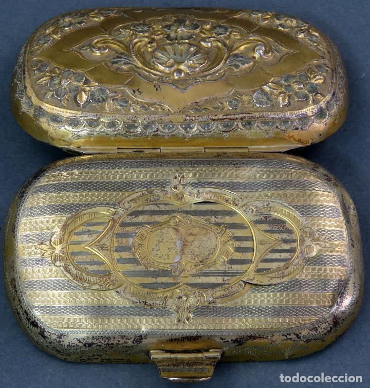 Antigüedades: Monedero en metal dorado sin forro interior francés siglo XIX - Foto 4 - 128534739