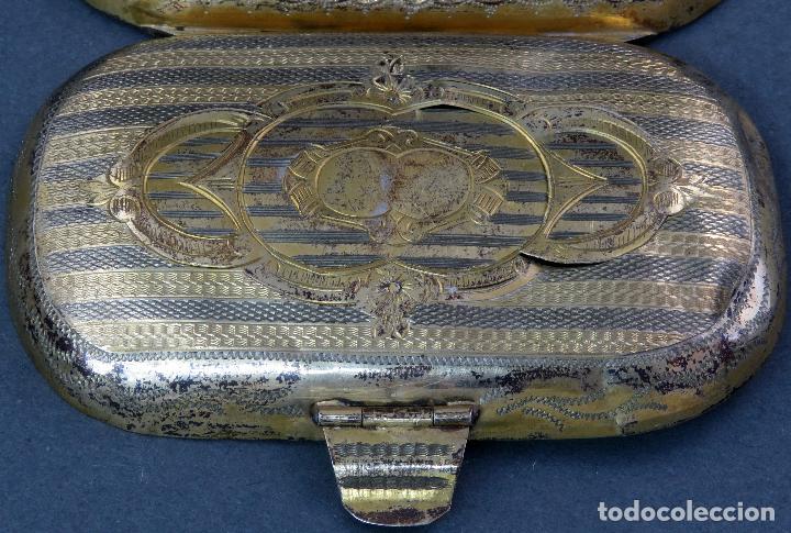 Antigüedades: Monedero en metal dorado sin forro interior francés siglo XIX - Foto 5 - 128534739