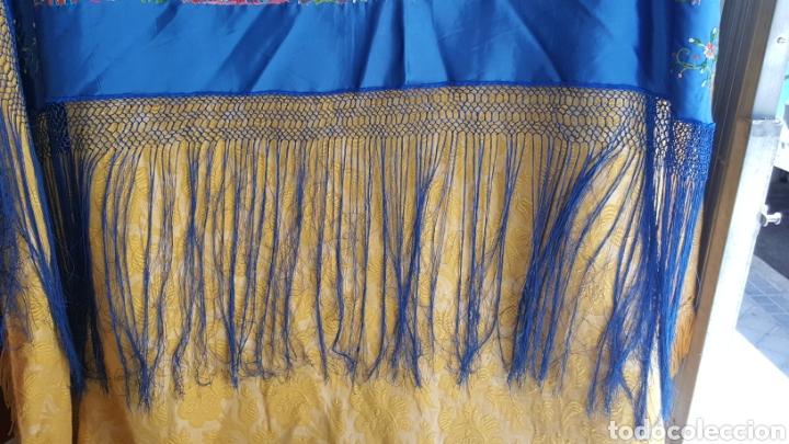 Antigüedades: EXTRAORDINARIO MANTÓN ANTIGUO - Foto 3 - 128537754