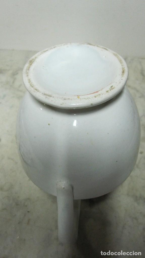 Antigüedades: CENTENARIA JARRA REALIZADA EN PORCELANA DE ORIGEN LEVANTINO - Foto 6 - 128546463