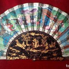 Antigüedades: ABANICO CHINO DE LAS MIL CARAS, SIGLO XIX. Lote 128571091
