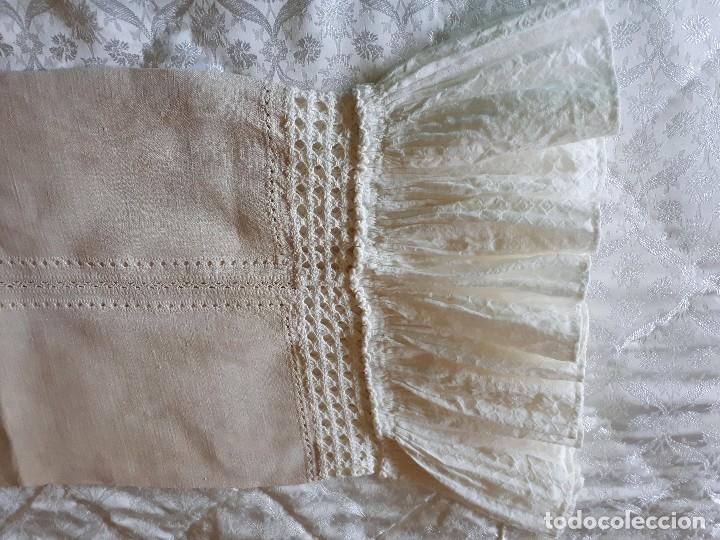 Antigüedades: ALMOHADA/ COJIN DE HILO AJUAR 1910 PIEZA UNICA - Foto 3 - 128578451