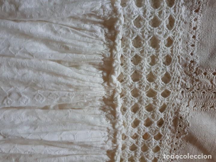 Antigüedades: ALMOHADA/ COJIN DE HILO AJUAR 1910 PIEZA UNICA - Foto 4 - 128578451