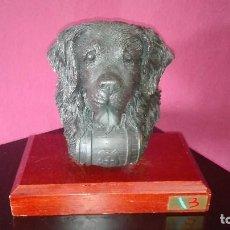 Antigüedades: ESCULTURA PERRO SAN BERNARDO. Lote 128584331