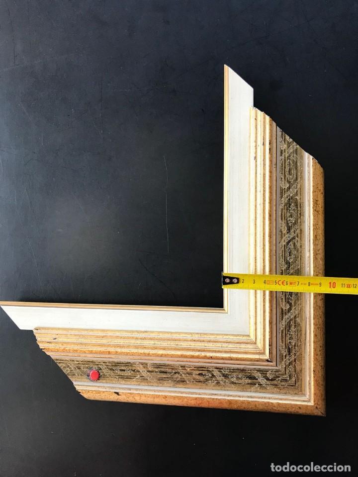 Antigüedades: EXCELENTE MARCO NUEVO PARA OBRA 46X38. DE CALIDAD. CON COMPLEMENTO. - Foto 8 - 128591175