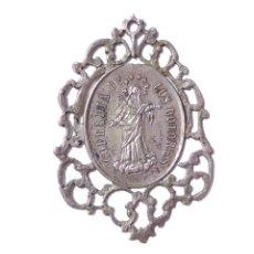 Antigüedades: MEDALLA RELIGIOSA .- COFRADIA DE LOS DOLORES, GLORIOSO SAN JOSE .- 6 CM ALTA. Lote 128604731