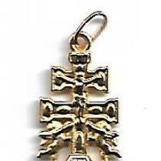 Antigüedades: CRUZ DE ARAVACA DORADA DIMENSIONES 22 X 15 MM. Lote 128604887
