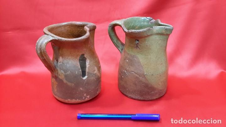 ANTIGUAS JARRAS - CUARTILLOS DE VINO CASTELLANAS...?? (Antigüedades - Porcelanas y Cerámicas - Talavera)