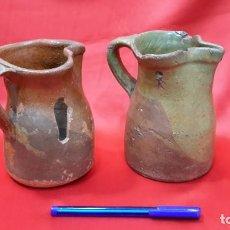 Antigüedades: ANTIGUAS JARRAS - CUARTILLOS DE VINO CASTELLANAS...??. Lote 128638651