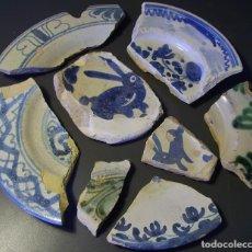 Antigüedades: CONJUNTO DE CERÁMICA ARAGONESA XVII-XIX. Lote 128651079