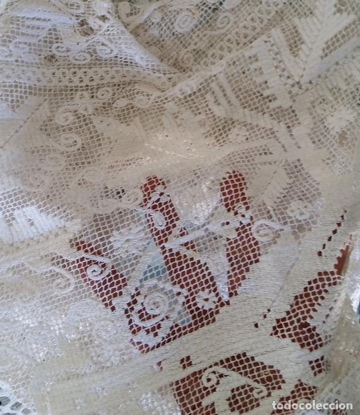 Antigüedades: Encaje de red siglo XIX - Foto 8 - 128653327