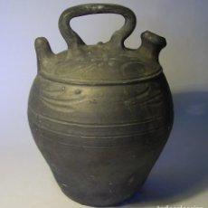 Antigüedades: BOTIJO TERRISSA CATALANA NEGRA DE VERDÚ XX (RABINAT) . Lote 128653667