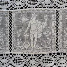 Antigüedades: ENCAJE DE RED SIGLO XIX. Lote 128660023
