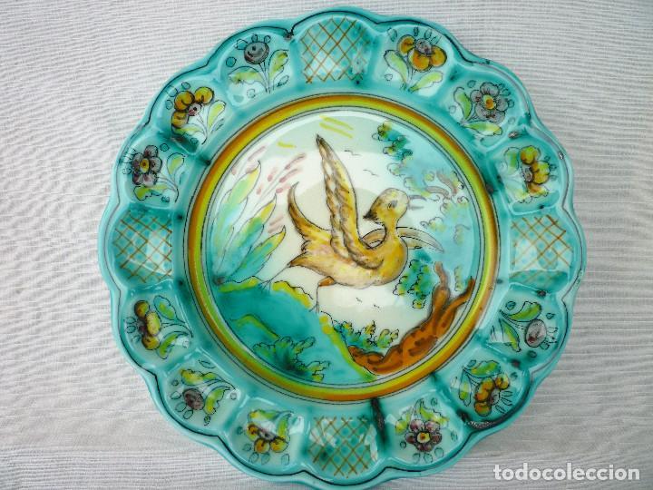 Antigüedades: PLATO DE CERÁMICA PINTADO DE PUENTE DEL ARZOBISPO - Foto 2 - 128694787