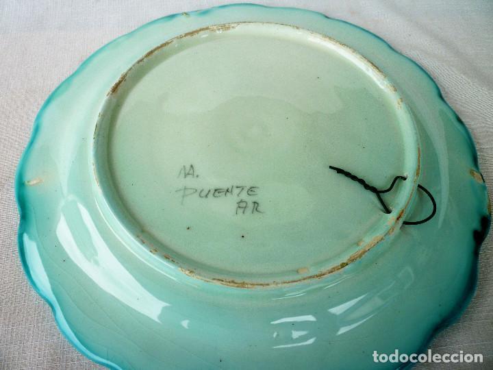 Antigüedades: PLATO DE CERÁMICA PINTADO DE PUENTE DEL ARZOBISPO - Foto 3 - 128694787