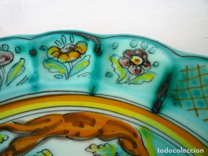 Antigüedades: PLATO DE CERÁMICA PINTADO DE PUENTE DEL ARZOBISPO - Foto 4 - 128694787