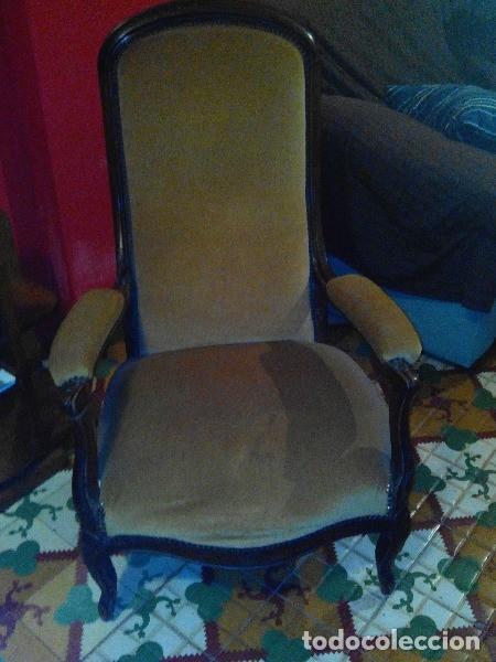 Antigüedades: Par de sillones voltaire franceses - Foto 2 - 94326442