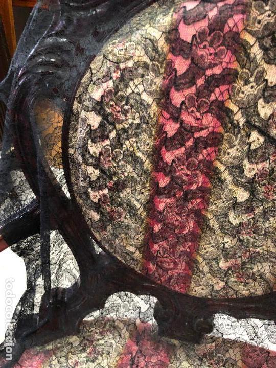 Antigüedades: ANTIGUO VELO MANTILLA EN NEGRO - MEDIDA138X67 CM - Foto 2 - 128722819