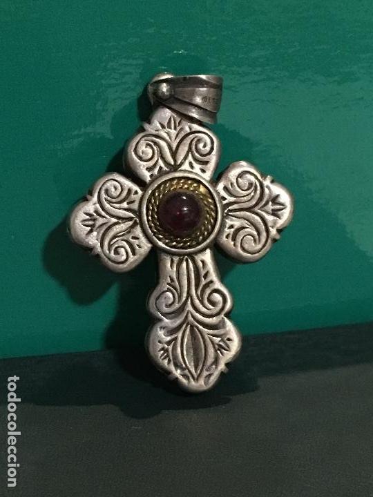 CRUZ DE PLATA (Antigüedades - Religiosas - Cruces Antiguas)
