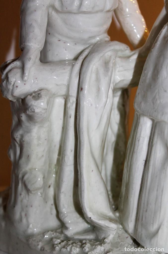 Antigüedades: PAREJA DE VALENCIANOS EN LOZA VIDRIADA DE PRINCIPIOS DEL SIGLO XX - POSIBLEMENTE DE PEYRO - Foto 7 - 128743399